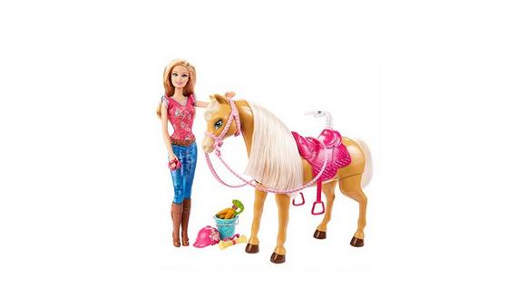 Barbie und Pferd Tawny