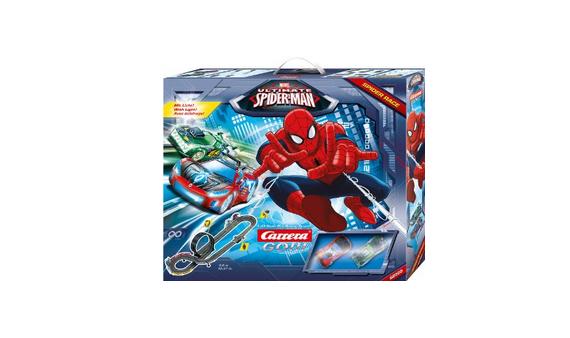 Carrera-Bahn mit Spiderman-Auto