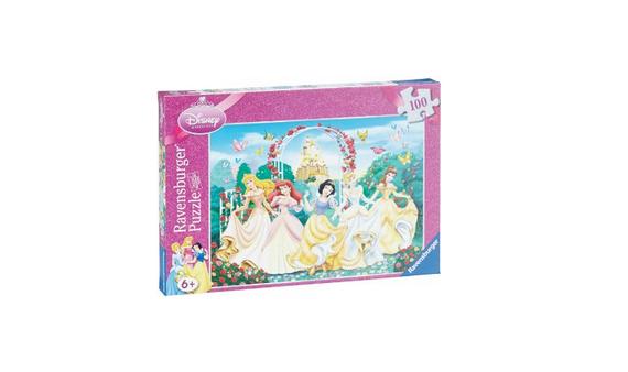 Funkelnde Prinzessinnen: Glitzerpuzzle