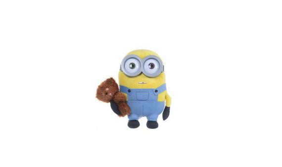 Plüschfigur Minion: Bob mit Bär