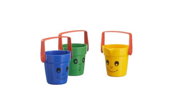 3 lustige Kindereimer mit Gesicht